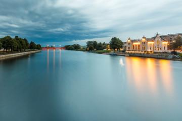 Long exposure of canal in Liepaja, Latvia.