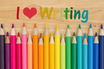 I love writing message with pencil crayons