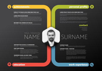 Dark Landscape Resume Layout 1
