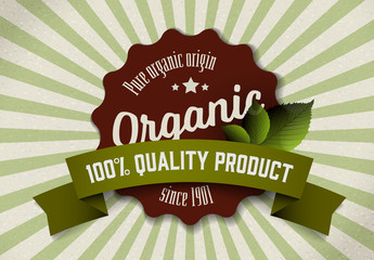 Organic Product Sign Layout