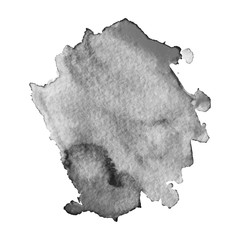 Abstract watercolor grayscale background.