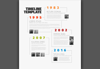 Stacked Vertical Timeline Layout
