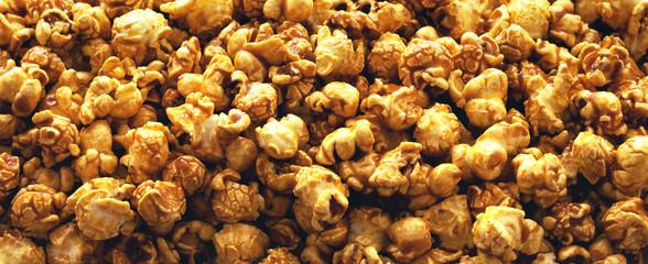 Panorama of caramel popcorn