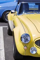 retro yellow car II, france