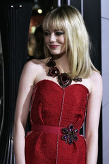 """Actress Emma Stone arrives at Warner Bros. Pictures' """"Gangster Squad"""" premiere at Grauman's Chinese Theatre in Hollywood, California"""