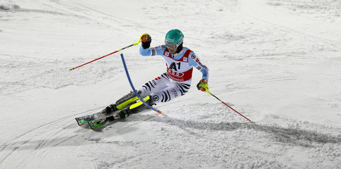 Neureuther of Germany competes in men's Alpine Skiing World Cup night slalom in Schaldming