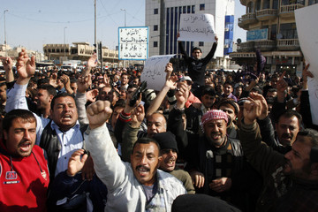 Residents protest to demand for better basic services and job opportunities in Mosul