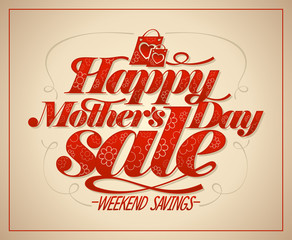 Happy Mother`s day sale vector design concept
