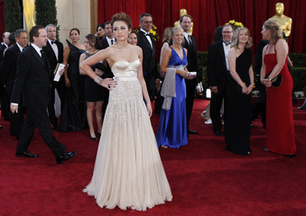 Actress and singer Miley Cyrus arrives at the 82nd Academy Awards in Hollywood
