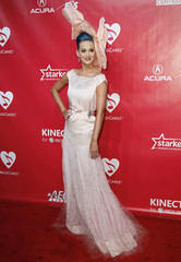 Singer Perry poses at the 2012 MusiCares Person of the Year tribute honoring Paul McCartney in Los Angeles