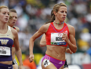 Morgan Uceny competes in the women's 1,500 meters qualifying at the U.S. Olympic athletics trials in Eugene, Oregon
