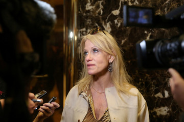 Campaign manager Kellyanne Conway arrives at the offices of Republican president-elect Donald Trump at Trump Tower in New York