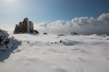 Uluzzo tower after a exceptional snowfall