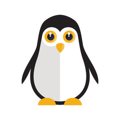 a penguin illustration on a plain background