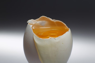 A picture illustration of a broken egg in Berlin
