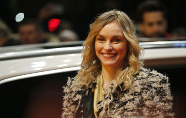 Actress Nina Hoss arrives for the screening of the movie 'Return to Montauk' at the 67th Berlinale International Film Festival in Berlin