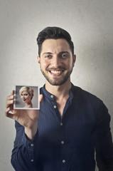 Showing a portrait