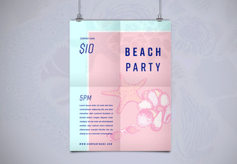 Beach Party Flyer Layout