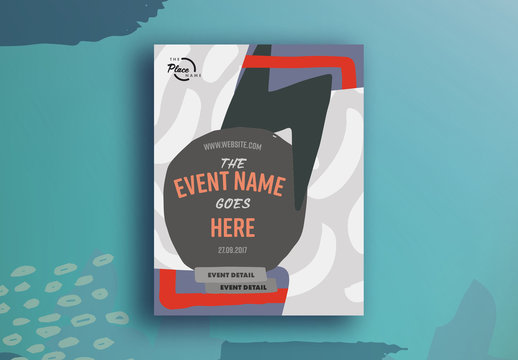 Abstract Design Pattern Event Poster Layout