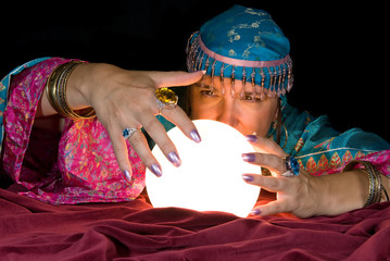 Fortune Teller and Crystal Ball