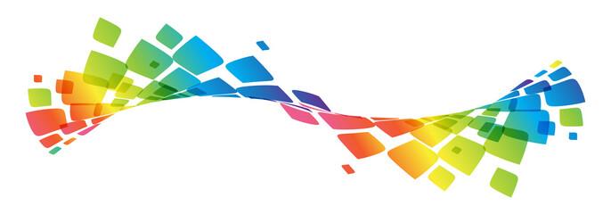 Multicolor curve, rainbow waved lines