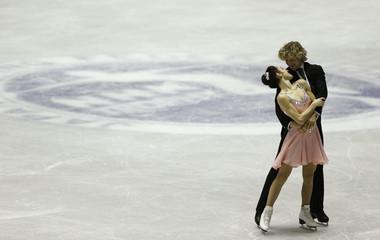 Davis and White of the U.S. perform during the ice dance short dance at the ISU Grand Prix of Figure Skating in Tokyo