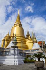 beautiful gold pagoda in grand palace bangkok thailand