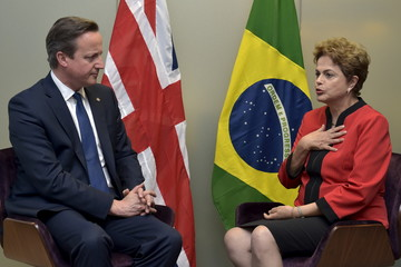 Britain's PM Cameron holds a bilateral meeting with Brazil's President Rousseff during the EU-CELAC Latin America summit in Brussels, Belgium