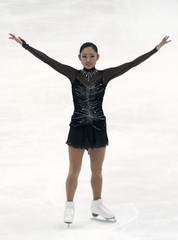 Ando of Japan performs during the ladies free skating competition at the ISU Four Continents Figure Skating Championships in Taipei