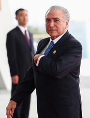 Brazilian President Michel Temer arrives to attend the G20 Summit in Hangzhou