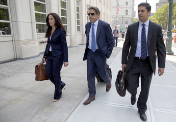 Aaron Davidson, head of Traffic Group's U.S. unit in Miami, arrives at the Brooklyn Federal Courthouse in the Brooklyn Borough of New York