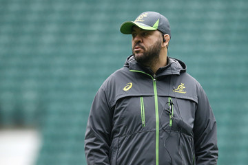 Australia head coach Michael Cheika during the Captain's Run
