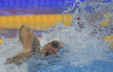 Magnini of Italy competes in the men's 100m freestyle semifinal at the 2012 European Swimming Championship in Debrecen