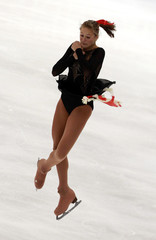 Jaimee Nobbs of Australia performs during the ladies short program competition at the ISU Four Continents Figure Skating Championships in Taipei
