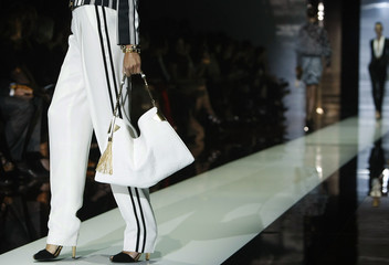 A model displays a creation from the Gucci Spring/Summer 2012 Women's Collection during Milan Fashion Week