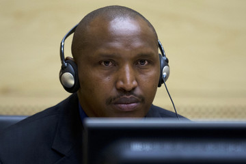 Congolese warlord Bosco Ntaganda looks on during his first appearance before judges at the International Criminal Court in the Hague