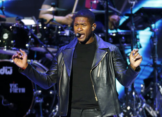 Usher performs at the Kids Inaugural concert for children and military families in Washington