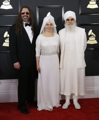 White Sun arrives at the 59th Annual Grammy Awards in Los Angeles