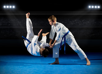 Foto op Aluminium Vechtsport Boys martial arts fighters