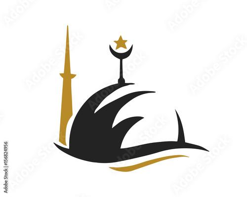 modern islamic mosque logo elegant islamic center symbol stock rh fotolia com islamic logos gallery islamic logo