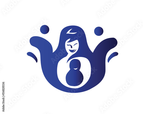 Mother And Son Parenting Community Symbol Stock Image And Royalty