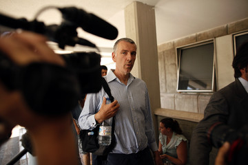 Brett King, father of Ashya King, arrives at Malaga's Materno-Infantil Hospital, where his son is hospitalized since last Saturday, in Malaga