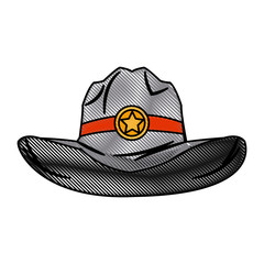 hat cowboy icon, weatern accessory character vector illustration