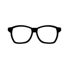 hipster glasses accessory fashion icon vector illustration