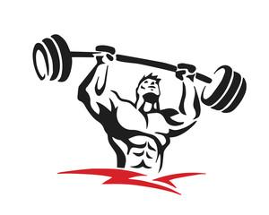 Passionate Body Builder Athlete Logo