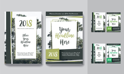 Nature Background Business Book Cover Design Template in A4. Can be adapt to Brochure, Annual Report, Magazine,Poster, Corporate Presentation, Portfolio, Flyer, Banner, Website