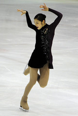 South Korean figure skater Kim Yuna performs at the Korea Figure Skating Championships 2014 in Goyang
