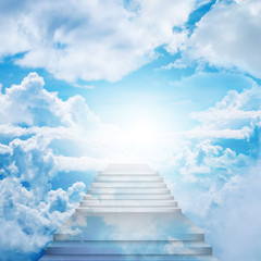 Stairway To Heaven, stairs on the sky.