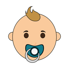 baby boy illustration icon vector design graphic
