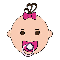baby girl illustration icon vector design graphic sketch